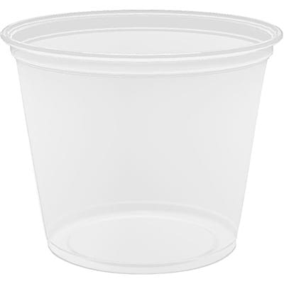 Conex® Portion Plastic Cups; Translucent, 5.5 oz., 2500/Case