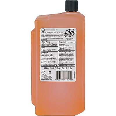 Dial® Gold Antimicrobial Soap, 1 Liter Refill, 8/CS