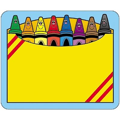 Crayon Box Self-Adhesive Name Tags, 3 x 2-1/2, 40/pkg