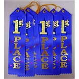 Beistle 1st Place Award Ribbon, 2 x 8, Pack of 6 (DM-AR01)
