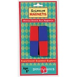 Dowling Magnets 3.13 x 1 North/South Bar Magnets, Red/Blue (DO-712)