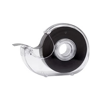 Dowling Magnets 0.75W x 25 L Adhesive Magnet Tape in Dispenser, Black (DO-735001)