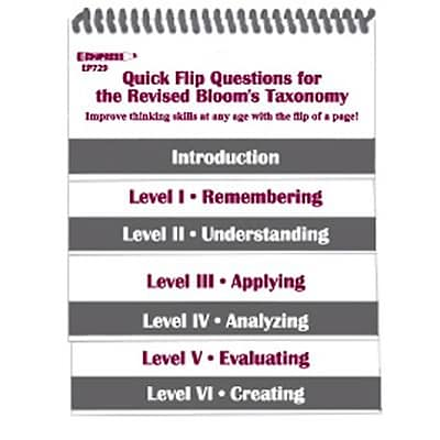 Quick Flip Questions for the Revised Bloom's Taxonomy