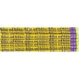 J.R. Moon Believe and Achieve Motivational Pencil, Pack of 12 (JRM52032B)
