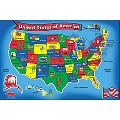 Melissa & Doug U.S.A. (United States) Map Floor Puzzle - 51 Pieces (LCI440)