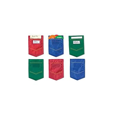 Magnetic Whiteboard Mini Pockets, Set of 6