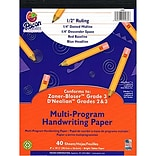 Zaner-Bloser™ and D'Nealian™ Handwriting Papers, All Grades, 8 x 10 1/2, 40 sheets