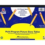 Pacon® Picture Story Papers, D'Nealian™ (1, 2, 3), Zaner-Bloser™ (2 & 3), 12x9, 1/2 Ruling,Tablet