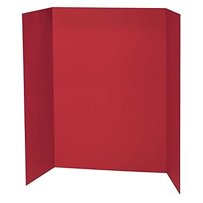 Pacon® Presentation Boards; 48X36, Red