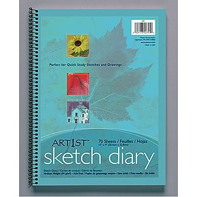 Art1st® Sketch Paper Diary, 12x9, 70/sheets