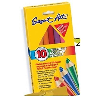 Sargent Art® Triangle Colored Pencils; 10/Box