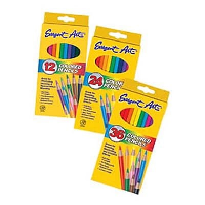 Sargent Art Colored Pencils, Assorted Colors, 12/Pack (SAR227212)