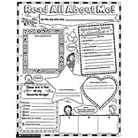 Scholastic Teaching Resources Activity Poster Sets; Read All About Me