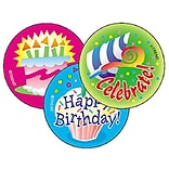 Trend Happy Birthday - Vanilla Stinky Stickers Large Round, 60 ct. (T-927)