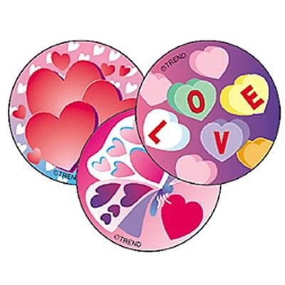 Trend® Stinky Stickers®, Large Round, Valentine's Day Scented Cherry