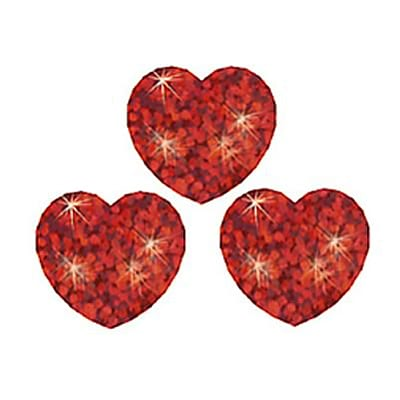 Trend® superShapes Stickers; Red Sparkle Hearts