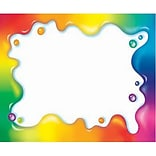 Rainbow Gel Self-Adhesive Name Tags