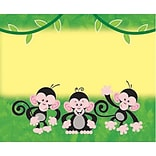 Monkey Mischief™ Self-Adhesive Name Tags
