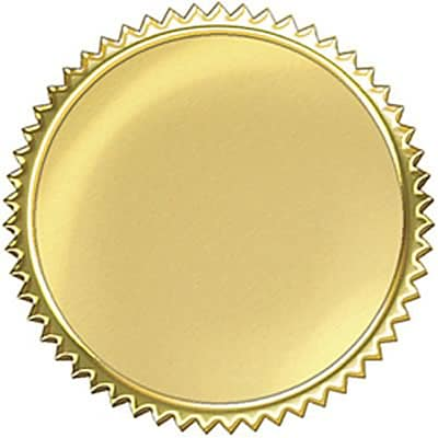 Gold Burst Award Seal; 2, 32/Pack