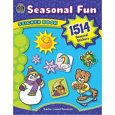 Seasonal Fun Sticker Book, 1,514 stickers, 14 pages