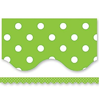 Mini Polka Dots Border Trim, Lime, 2-3/16x35, 12/pkg