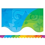 Abstract Rainbow Border Trim