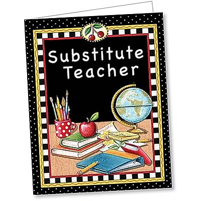 Substitute Teacher Pocket Folder by Mary Engelbreit