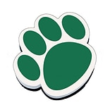Ashley Magnetic Whiteboard Eraser; Green Paw
