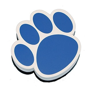 Ashley Magnetic Whiteboard Eraser; Blue Paw
