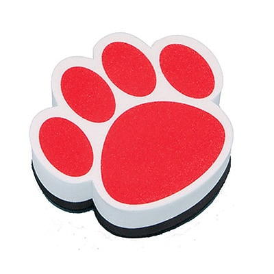 Ashley Magnetic Whiteboard Eraser; Red Paw