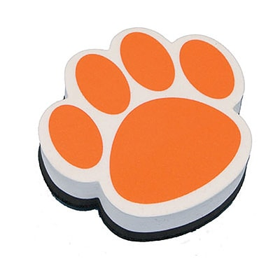 Ashley Magnetic Whiteboard Eraser; Orange Paw