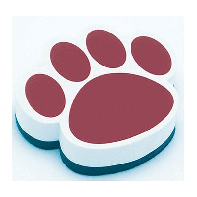 Ashley Magnetic Whiteboard Eraser; Maroon Paw