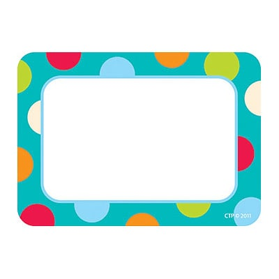 Creative Teaching Press™ Name Tags; Dots on Turquoise