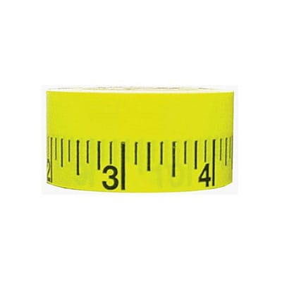 Mavalus® Measuring Tape; 12 Tape, 30 Per Roll, Yellow