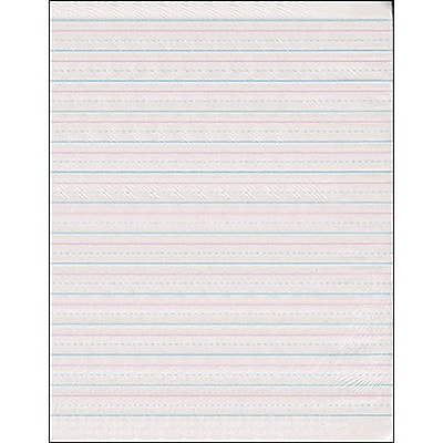 Pacon Newsprint Handwriting Paper, Skip-A-Line, 8.5 x 11, 1/2 Ruled, White, 500 Sheets/Pad (PAC2696)