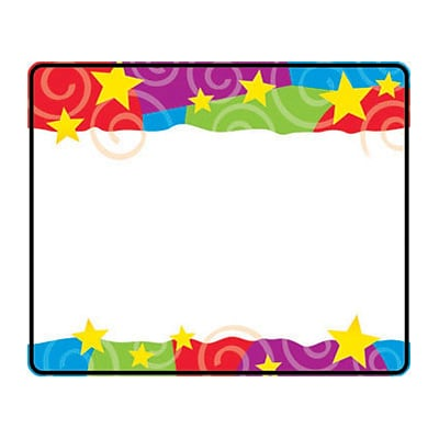Trend® Name Tags; Stars 'n Swirls
