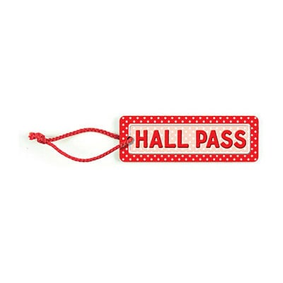 Teacher Created Resources Hall Passes; Polka Dots