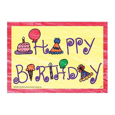 Top Notch Teacher Products Happy Birthday Smooth Personal Postcards, Multicolor, 30/Pack (TOP5106)