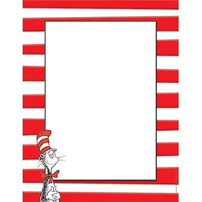 Eureka Computer Paper; Dr. Seuss Cat In The Hat