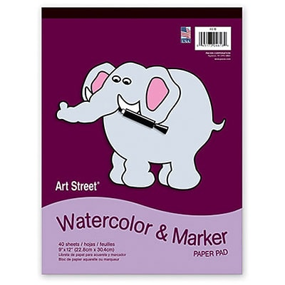 Art Street® Watercolor & Marker Pad; 9x12, 40 Sheets