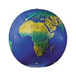 Inflatable 12 Topographical Globe