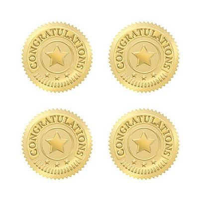Trend  Awards; Congratulations (Gold) Seal