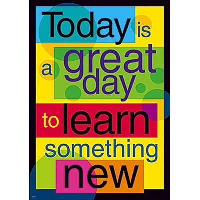 Trend® Educational Classroom Posters; Today is a great day to learn…