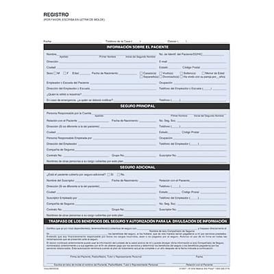 medical arts press registration form spanish