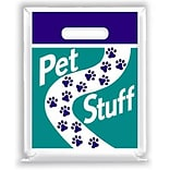 Medical Arts Press® Veterinary Non-Personalized 2-Color Small Supply Bags, Paw Print Path, Pet Stuff