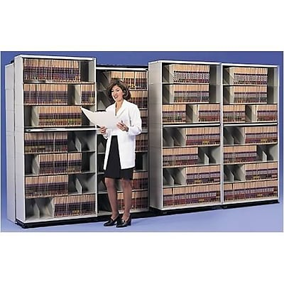 Medical Arts Press® Trak-Stak™ Open Shelf; 7- Unit- 7- Tier