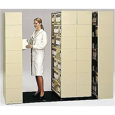 Medical Arts Press® Mobil-Stak® Open Shelf; 4-Unit, 6-Tier