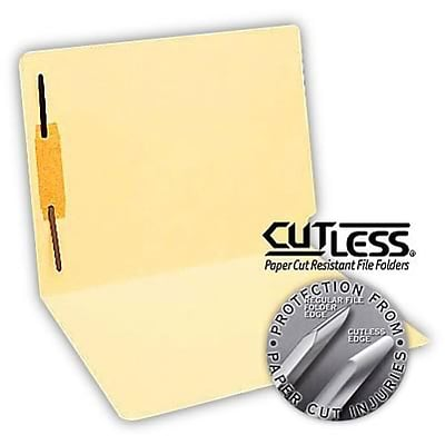 CutLess® Manila End-Tab Fastener Folders; Fastener Position 1