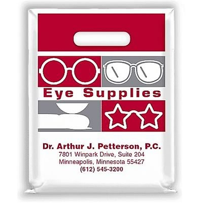 medical arts press eye care personalized small 2 color supply bags