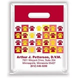Medical Arts Press® Veterinary Personalized Small 2-Color Supply Bags; Paw Print Quilt Design